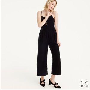 Jcrew Cropped Velvet Jumpsuit
